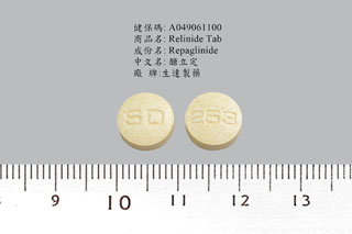 Relinide Tablet 1mg 圖片